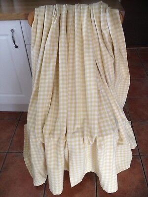 Vintage Laura Ashley Gingham Curtains Cowslip