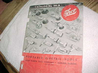 THOR TOOL CATALOG  No 39-A   -   40 ILLUSTRATED PAGES