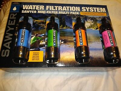 Sawyer Portable Mini Water Filter Filtration System Multi Color 4 Pack SP124 New