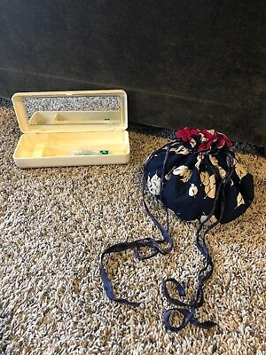 Antique Sewing Bag And Pretty Neat Case