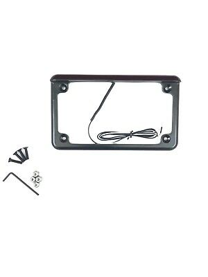 "New Radiantz Motorcycle Scooter License Plate Frame With 6"" Led Light - Black"