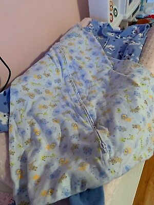 Lot Of 2 Halo Sleep Sacks, Large, Fleece, Cotton, Early Walker. Euc 12-18 Months