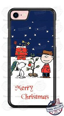 Charlie Brown Snoopy Christmas Tree Xmas Phone Case Cover for iPhone Xs Max etc.