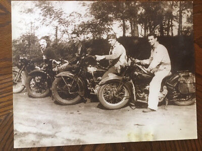 """Vintage Large (11""""X14"""") Motorcycle Harley/Indian Pictures/Lithographs"""