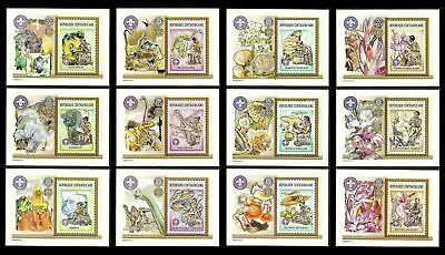 Central Africa 2002 Scouts Minerals Prehistoric Animals Fungi Lions Rotary Mnh