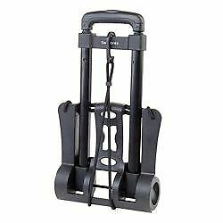 "Samsonite Compact Folding Luggage Cart, 70 Lb. Capacity, 37"" x 10"" x 12"", Black"
