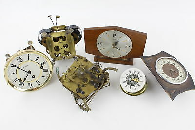 Clock Restorers Job Lot Inc. Clock MOVEMENTS & Smiths CLOCK, Assorted Parts Etc