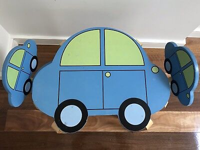 Kids Car Shaped Desk And 2 Chairs - Good Condition
