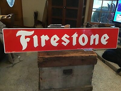Firestone Metal Embossed Sign