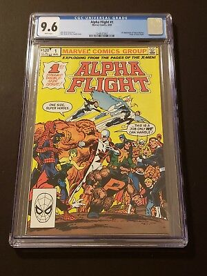 Alpha Flight #1 CGC 9.6 1983 1st App Puck Marrina Origin of Alpha Flight KEY