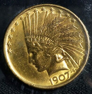 1907 Gold Indian Head Ten Dollar $10 Eagle Coin