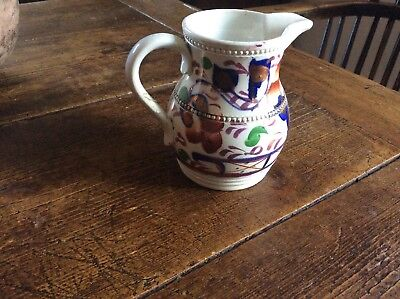 Victorian Welsh Gaudy Cream Jug Milk Jug Welsh Dresser