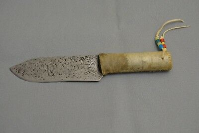 Native American Indian Knife with rawhide handle and beads