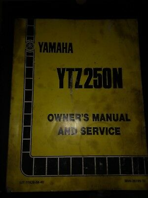Yamaha YTZ 250N Owners And Service Manual