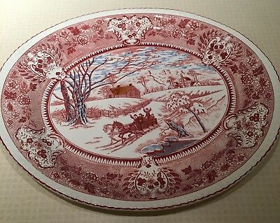 Vintage Ideal Ironstone China Transferware Platter