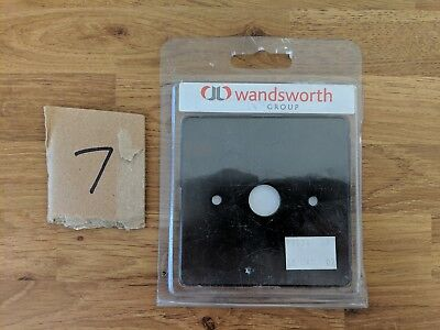 Wandsworth P1978/AB 1 Gang Plate for Cable Outlet Antique Bronze Socket switch