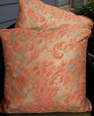 Pair of Fortuny Decorative Throw Pillows
