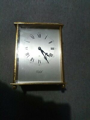 Vintage Imhof Swiss Solid Brass Carriage Clock 8 Days 15 jewel Roman Numerals