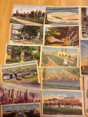 Lot of 38 Old New York Vintage postcards 1908 -1950 used! Some with stamps
