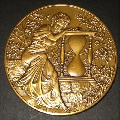 Large Franklin Mint 1979 Annual Calendar Art Medal Bronze With Box