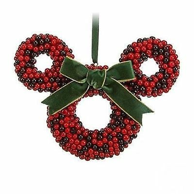 Disney Mickey or Minnie Icon Cranberries Christmas Ornament New with Tags
