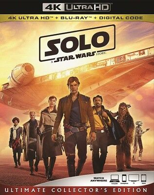 Solo A Star Wars Story (4K Ultra HD & Blu Ray & Digital) NEW