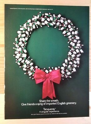 Tanqueray - Share the Wreath - 1988 Print Ad