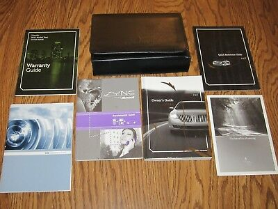 2011 LINCOLN MKZ OWNERS MANUAL w/supplemental books, and a leather case