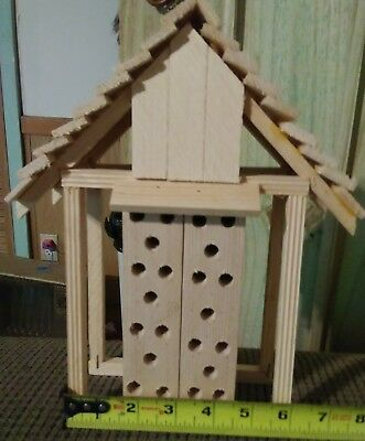 Garden Bee House Outdoor Garden Decor for Solitary Bees, Insect Hotel for Bee...