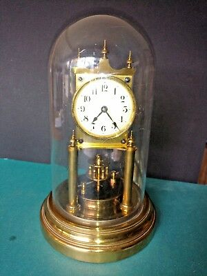 Vintage Gustav Becker G-B 400 Day Anniversary Clock for Parts or Restoration