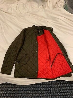Barbour Men's Jacket - Green/Red - Medium