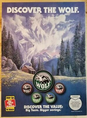 Timber Wolf Tobacco - Discover the Wolf - Dated 2000 Print Ad