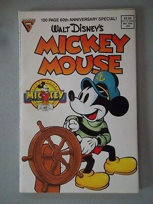 Walt Disney's Mickey Mouse Comic 60th Anniversary Special 244 Jan 1989 100 Page