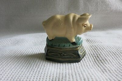 Vintage Cast Iron Pig Doorstop Paper Weight Bookend