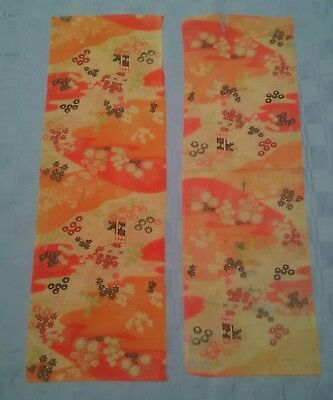Antique Chinese textile pair, two pieces of unusual fabric