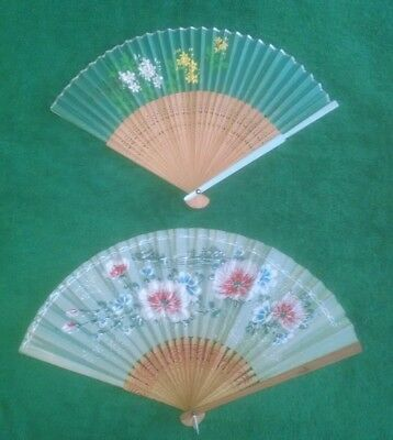 Two vintage Japanese fans, beautiful