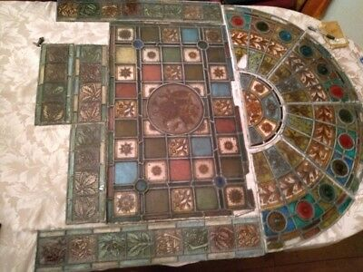 Arts and Crafts Stained Glass Door and Archway Panels