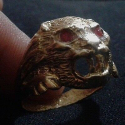 ancient antique roman legionary ring bronze artifact rare type symbol