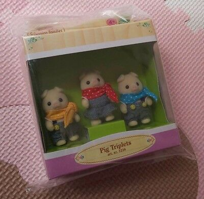 Sylvanian Families Calico Critters Three Little Pigs Triplets Doll Epoch Japan