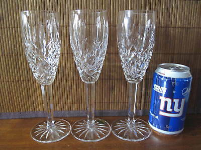 Waterford Crystal Araglin Fluted Champagne Glasses Set of 3