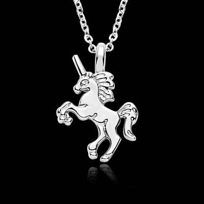 Fashion Animals Silver Silver Horse Pendant Necklace Womens Jewellery Party Gift