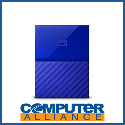 "1TB WD 2.5"" USB 3.0 My Passport Portable HDD BLUE PN WDBYNN0010BBL-WESN"