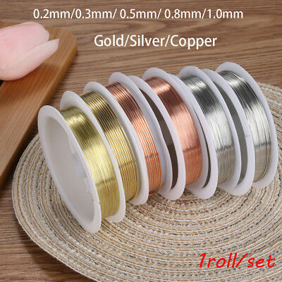 Diy  Beads Craft gold plated String copper wire Jewelry Making Cord Necklace