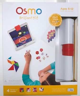Osmo Brilliant Kit For Ipad 4 Hands on Games For Kids, Sealed