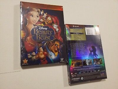 Beauty and the Beast (DVD 2-Disc Set, Diamond Edition) Factory Sealed Disney New