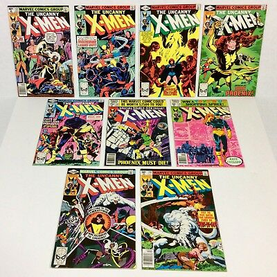 X-MEN #132,133,134,135,136,137,138,139,140 KEY LOT (9 issue RUN) 1980 Marvel