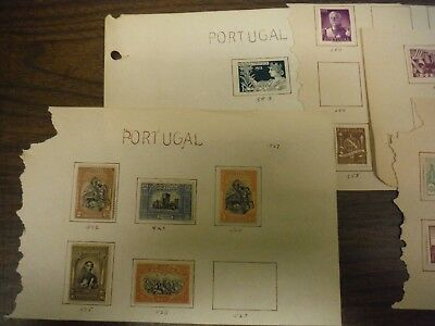 WPPhil Portugal Stamp Accumulation 15+ Stamps Mint Hinged