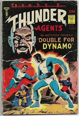 THUNDER AGENTS #5 - DOUBLE FOR DYNAMO Tower Comics 1966