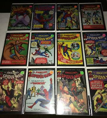 Spider-Man Collectible Series 12 Issue Lot Avg Grade FINE+ Silver Age Reprints