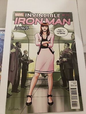 Invincible Iron Man 7 variant. First apperance of Riri Williams